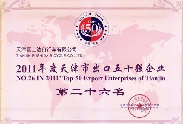 天津市出口五十强2011