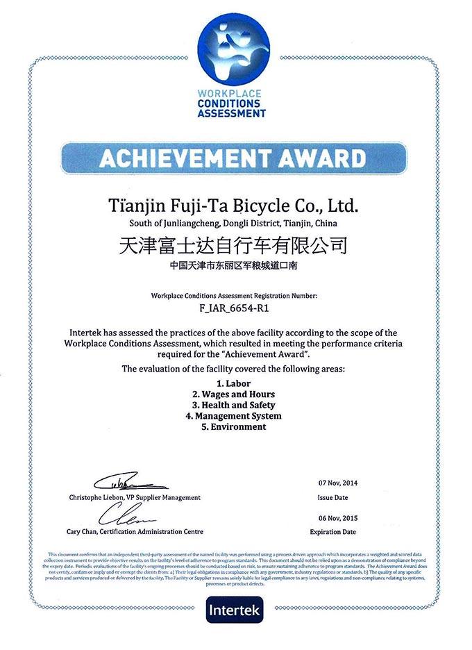 WCA-certificate