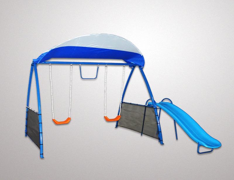 FSD-Metal-swing-set-Premium-4-play-with-sun-shade