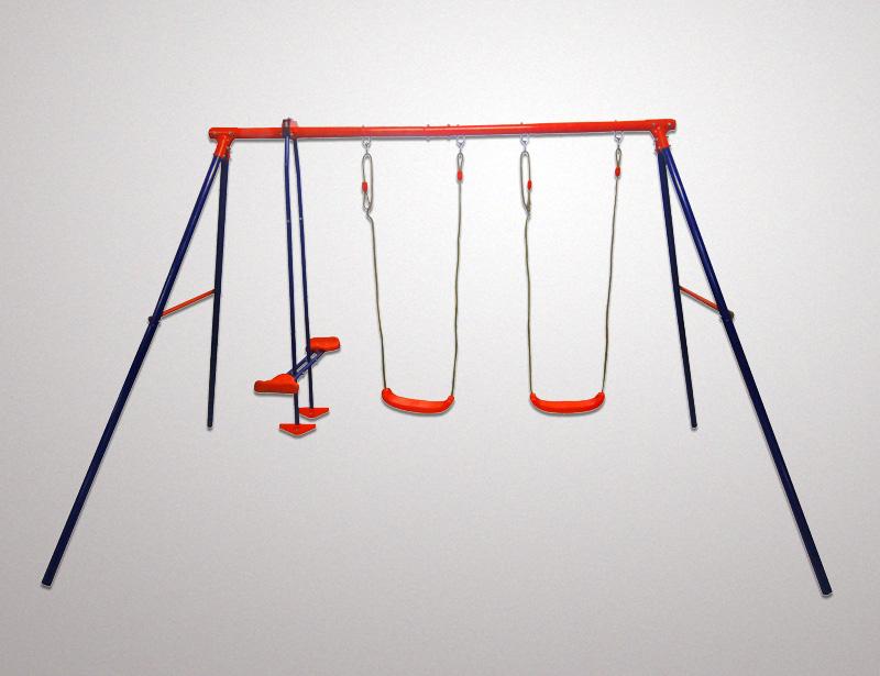 Fsd Metal Swing Set Triple Glider 2 Swing Seats Tianjin Fuji